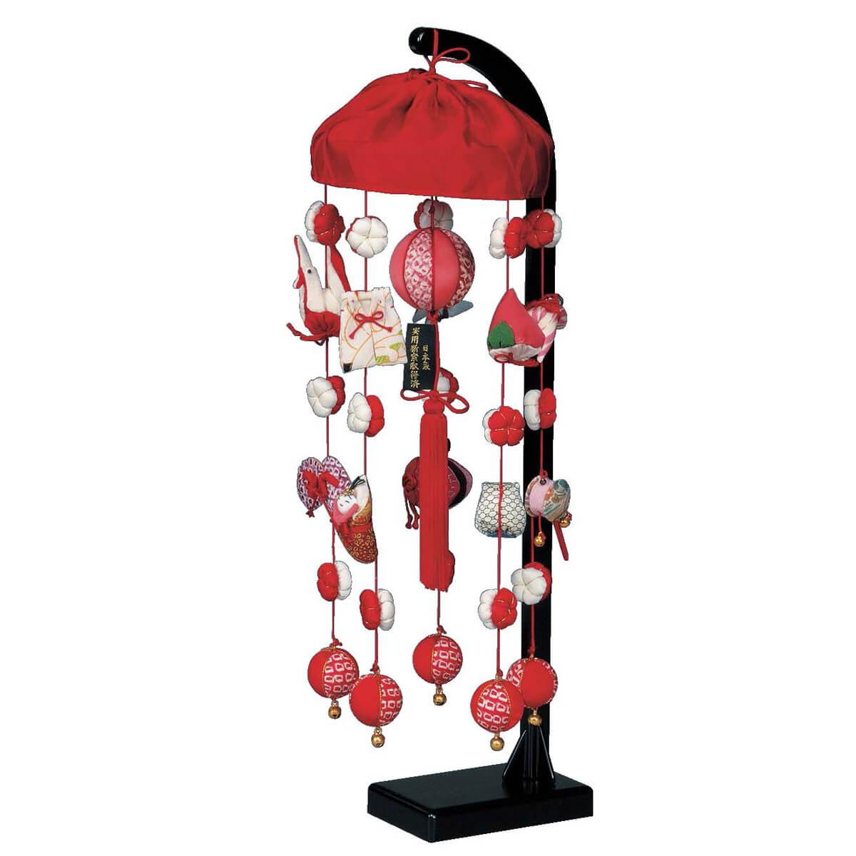 正絹小雪(小) スタンド付 TRS-H-332390送料無料 ※北海道 沖縄は除く つるし雛 吊るし飾り で 桃の節句 雛祭り ひな祭り 雛人形 のお祝いに
