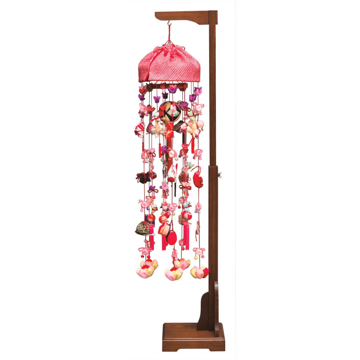 正絹雪割草 二連 伸縮スタンド付 TRS-H-332394送料無料 ※北海道 沖縄は除く つるし雛 吊るし飾り で 桃の節句 雛祭り ひな祭り 雛人形 のお祝いに