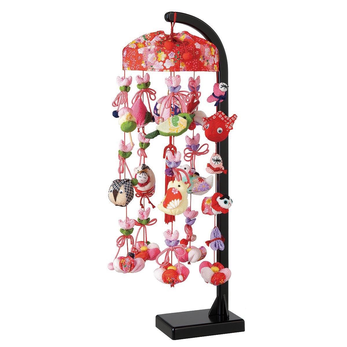 雪割草 スタンド付 TRS-H-332405送料無料 ※北海道 沖縄は除く つるし雛 吊るし飾り で 桃の節句 雛祭り ひな祭り 雛人形 のお祝いに