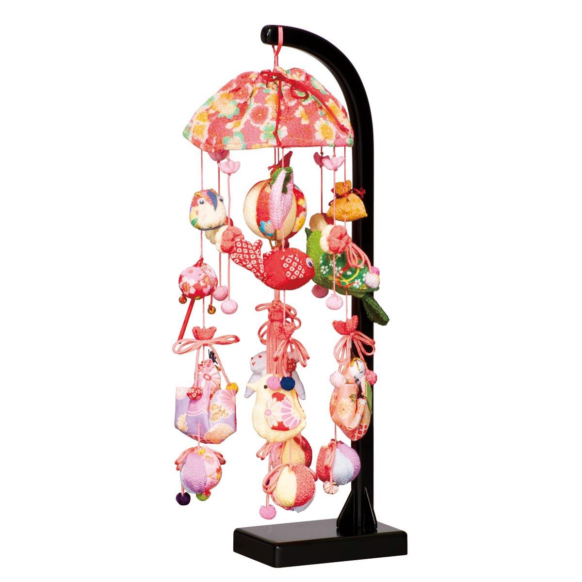 桜あかり スタンド付 TRS-H-332406送料無料 ※北海道 沖縄は除く つるし雛 吊るし飾り で 桃の節句 雛祭り ひな祭り 雛人形 のお祝いに