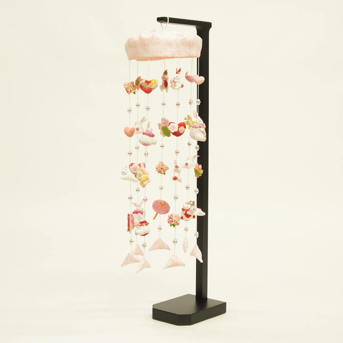 白うさぎ スタンド付 TRS-MY-3-53送料無料 ※北海道 沖縄は除く つるし雛 吊るし飾り で 桃の節句 雛祭り ひな祭り 雛人形 のお祝いに