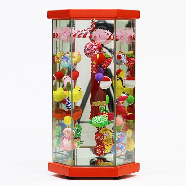 久月 さげもんケース入り 赤塗 小 オルゴール付 TRS-Q-TAR23-3送料無料 ※北海道 沖縄は除く つるし雛 吊るし飾り で 桃の節句 雛祭り ひな祭り 雛人形 のお祝いに