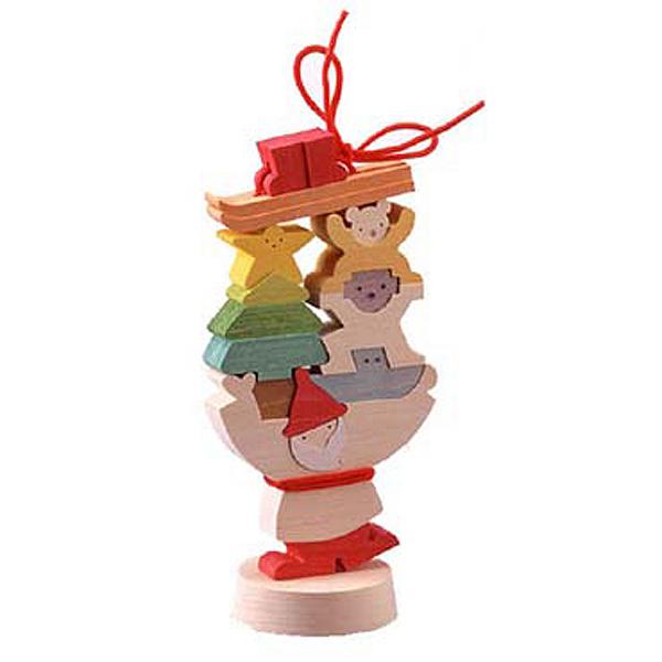 小黒三郎 組み木 X'mas 『 プレゼントを運ぶサンタ (S) 』 KUUP-KX122小黒 三郎 組木 組み木のクリスマス X'mas 御出産 お誕生日などのお祝い、プレゼントにも人気です。【あす楽対応】etc