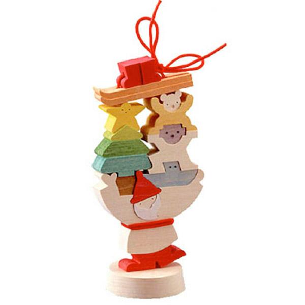 小黒三郎 組み木 X'mas 『 プレゼントを運ぶサンタ (L) 』 KUUP-KX322小黒 三郎 組木 組み木のクリスマス X'mas 御出産 お誕生日などのお祝い、プレゼントにも人気です。【あす楽対応】etc