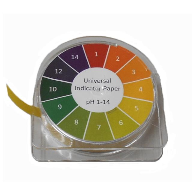 夏休み冬休みの自由研究に 簡単にペーハーが測れます使う分だけ自由にカットできます! リール式pH試験紙【あす楽】