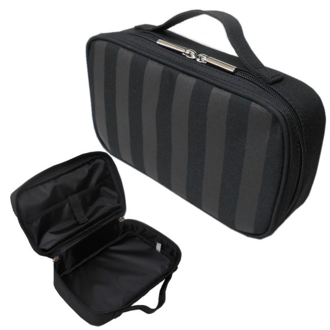 小学生 中学生向けのシンプルソーイングバッグです男女兼用 正規品 裁縫バッグ ブラックストライプ 早割クーポン あす楽 送料無料 男の子 バッグのみ