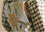 【送料無料】源氏帯 京袋帯 (仕立上り)  白鼠地に百合