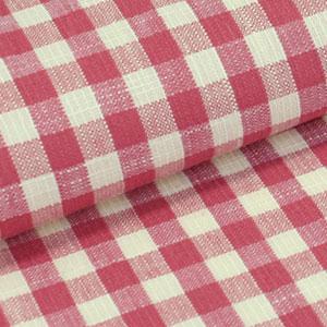 【送料無料】木綿 着物 反物 片貝木綿 最高のおススメカジュアル着物 紺仁 草木染 格子縞×薄蘇芳、生成色