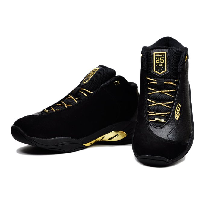 【送料無料】AND1 タイチMID LX25th Anniversary EditionBlack/Black/Pale Gold