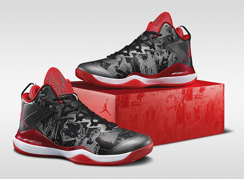 3ac4c5d8fc52 FLY 3 X SLAM DUNK Nike Jordan Superfly X slam dunk black   Varsity red    white foreign imports