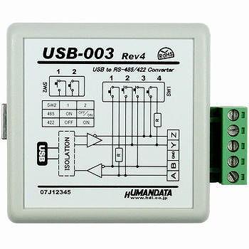 ヒューマンデータ USB RS485/RS422変換器 Rev6 【USB-003】