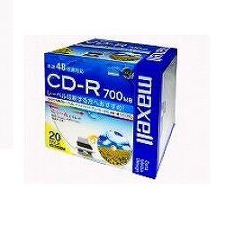 日立マクセル データ用「CD-R Super MQ(48倍速対応)」インクジェットプリンター(700MB・20枚パック) 【CDR700S.WP.S1P20S】