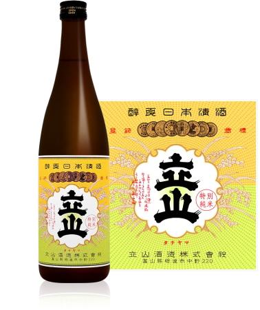 特別純米酒立山 720ml×12本 【お取寄せ品】2~3週間お時間かかることがあります。