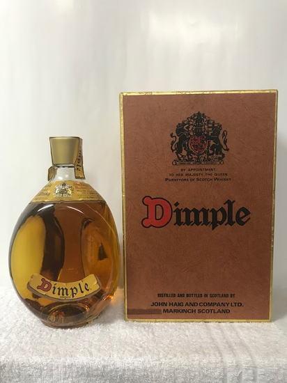 1989年以前の(特級表記)の希少・レア・レトロな旧正規品の古酒 Dimple ディンプル スコッチ ウイスキー特級 (従価) 43度 750ml 箱入