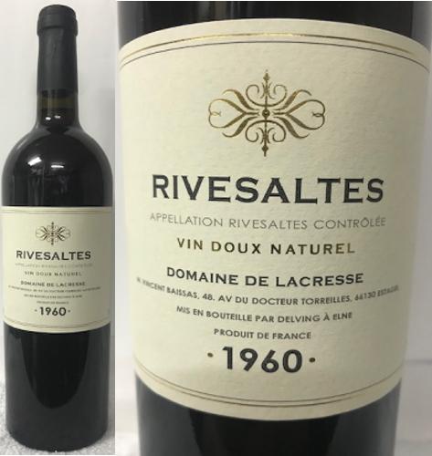 (超希少・貴重フランス 甘口ワイン)リヴザルト1960 ドメーヌ ラクラッセ 赤ワイン 甘口 16% 750ml