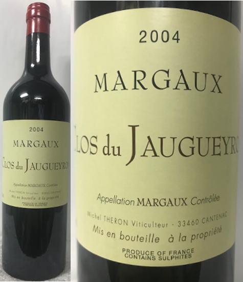 [送料無料のお買い得!!(一部地域は送料がかかります。)] クロ・ド・ジョゲロン マルゴー2004(赤) 750ml