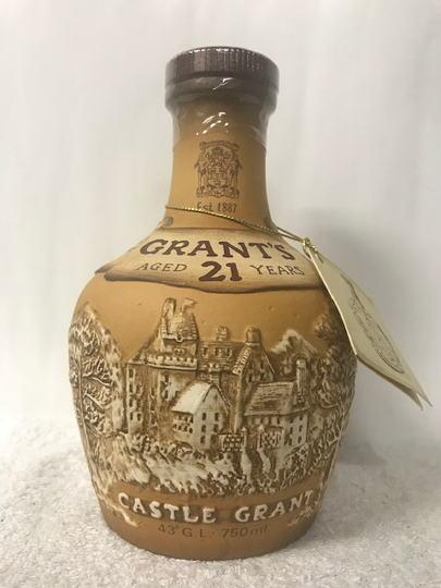 (希少品 古酒) グランツ 21年 ロイヤル ドルトン製 陶器入 43度 750ml 箱無