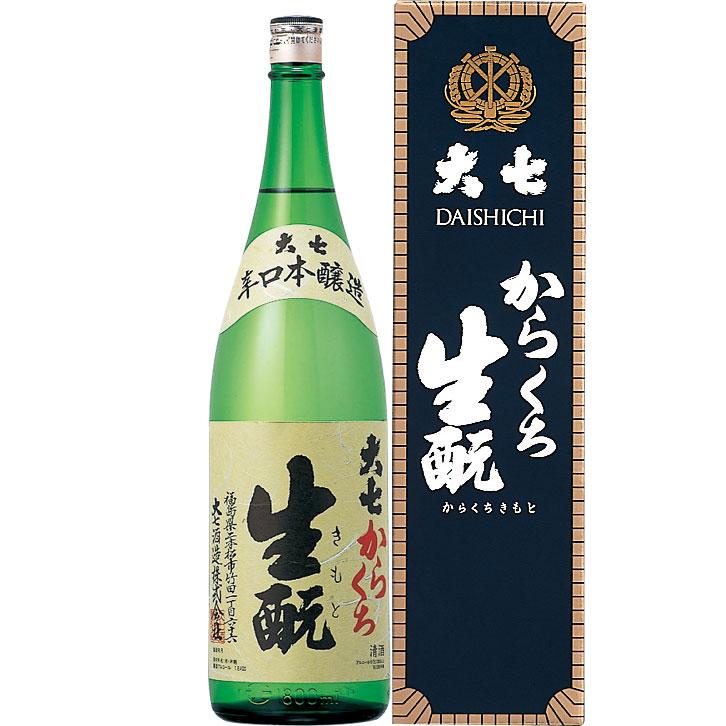 ×6 大七 からくち生もと 本醸造 1800ml×6本 日本酒 清酒 1.8L 【お取寄せ品】お時間かかることがあります。