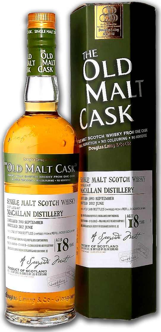 ダグラスレイン マッカラン 18年 Distilled 1993 化粧箱付 50度 700ml