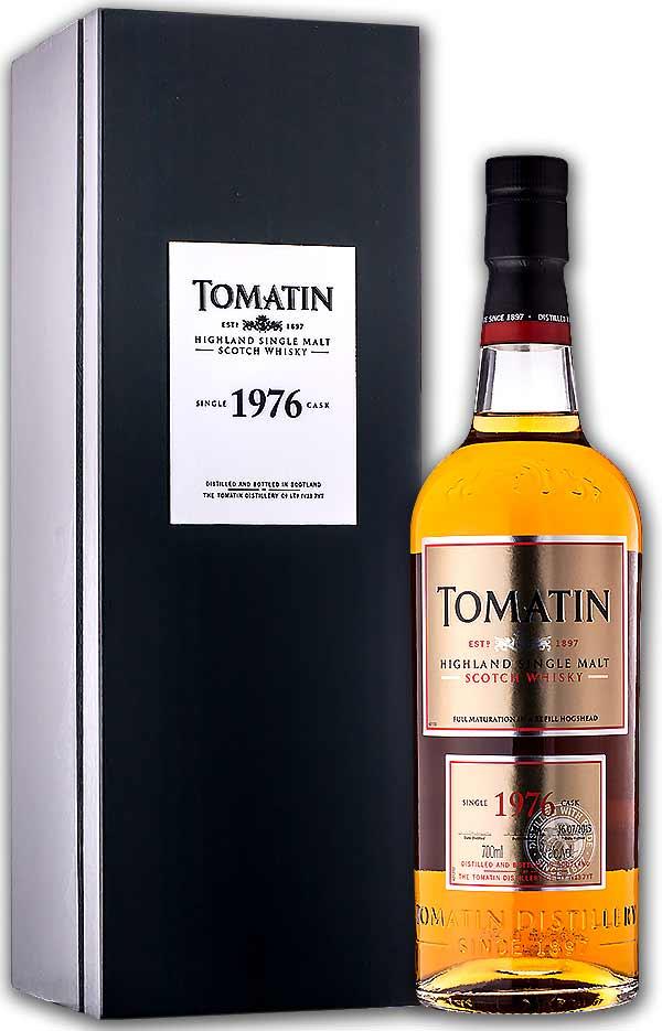 稀少限定 トマーティン カスクナンバー31 1976年 38年 専用1本木箱付き 47度 700ml(シングルモルト スコッチ・ウィスキー)