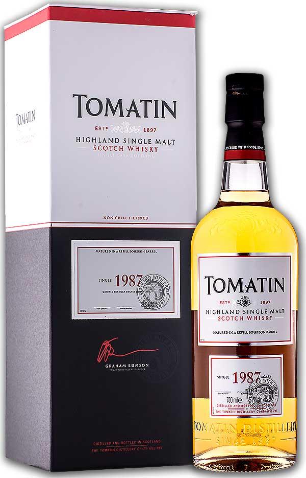 稀少限定 トマーティン 1987年 28年 専用化粧箱付き 51度 700ml(シングルモルト スコッチ・ウィスキー)