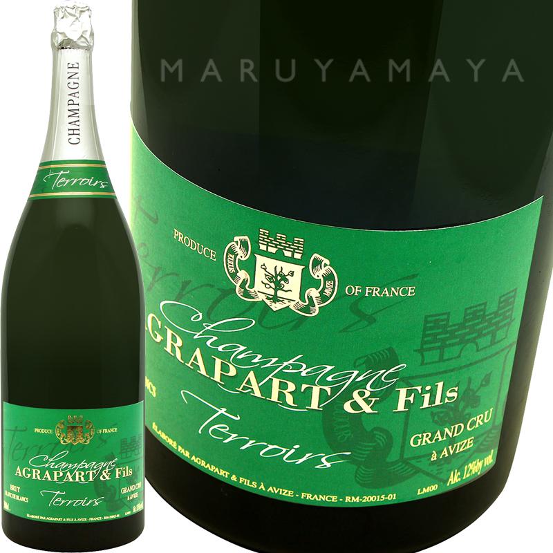 """ブラン・ド・ブラン""""テロワール""""エクストラ・ブリュット グランクリュ(ジェロボアム) [N.V(2000)] アグラッパールAgrapart et Fils Champagne Extra Brut Blanc de Blancs Terroirs Grand Cru 3,000ml"""