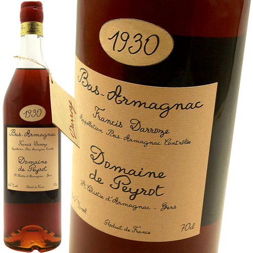 ラバスティド・ダルマニャック・ドメーヌ・ド・マウ [1930]フランシス・ダローズFrancis Darroze Labastide-d'Armagnac Domaine de Mahu 1930 44.5%