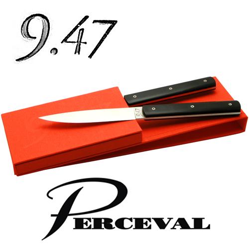 テーブルナイフ「9.47」2本セット(ブラック)ペルスヴァルPerceval 9.47-2 Table Knives(Black)