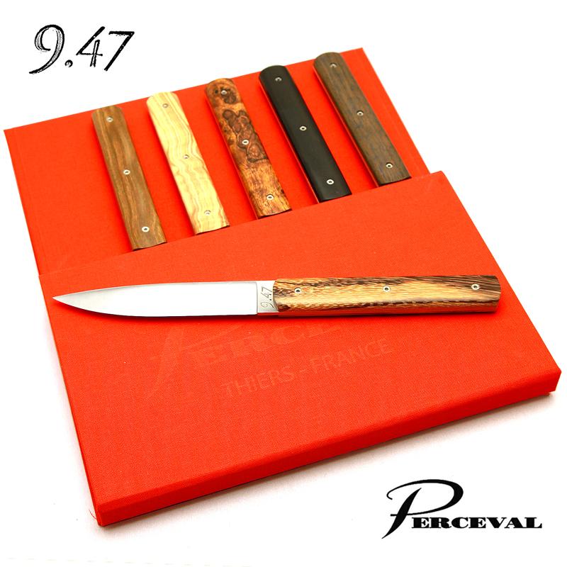 テーブルナイフ「9.47」6本セット(木製ミックス)ペルスヴァルPerceval 9.47-2 Table Knives( Mixed Wood)