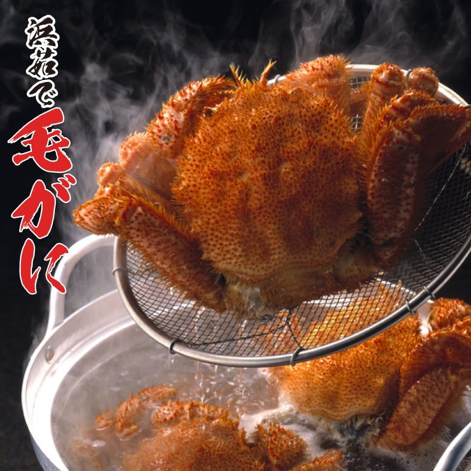 ボイル済だから解凍し すぐ食べられます カニ 北海道産 毛ガニ 約500g×2尾 毛がに ボイル済 カニ味噌 身入り抜群 国内在庫 NEW売り切れる前に☆ 茹で済 毛蟹