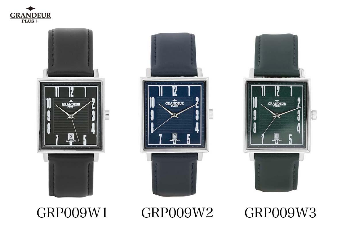 メンズ 【送料無料】腕時計 GRP009 ウォッチ 革ベルト PLUS+ GRANDEUR グランドールプラス