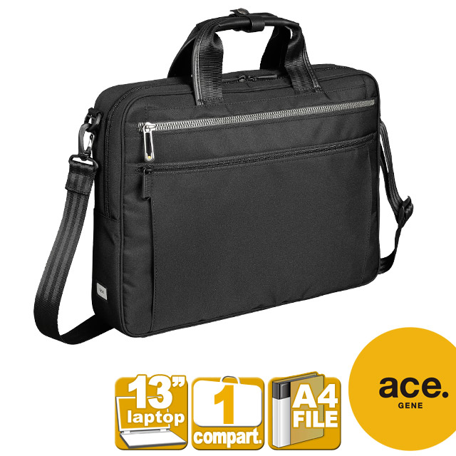 エースジーン ビジネスバッグ ace. GENE リテントリー ブラック ブリーフケース メンズバッグ 2WAY 軽量 通勤 メンズ 紳士 55161