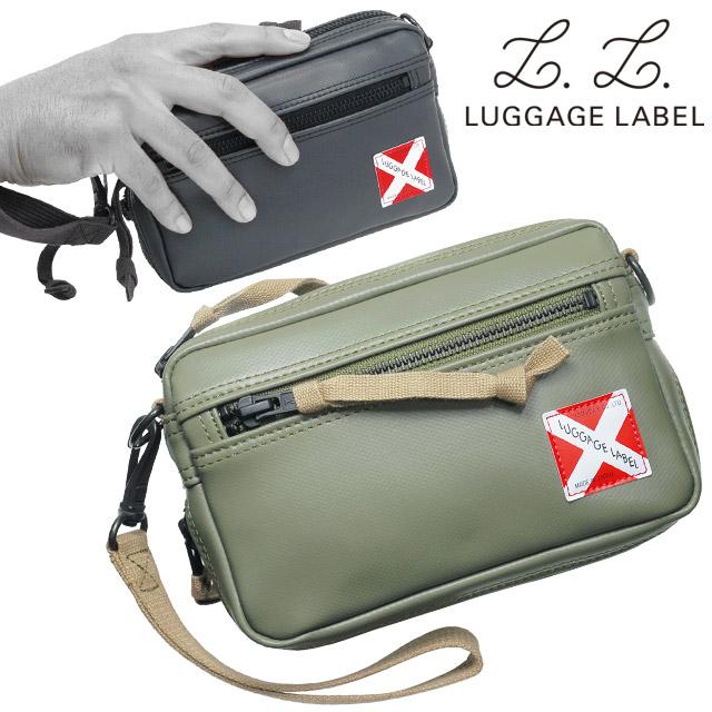 吉田カバン ラゲッジレーベル ライナー ポーチ (S) セカンドバッグ 赤バッテン エキスパンダブル ブラック/カーキ LUGGAGE LABEL LINER 951-09244
