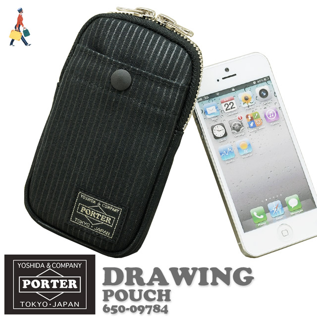 Porter drawing pouch case mobile phone smart phone case Smartphone  [650-09784, 10P10Jan15