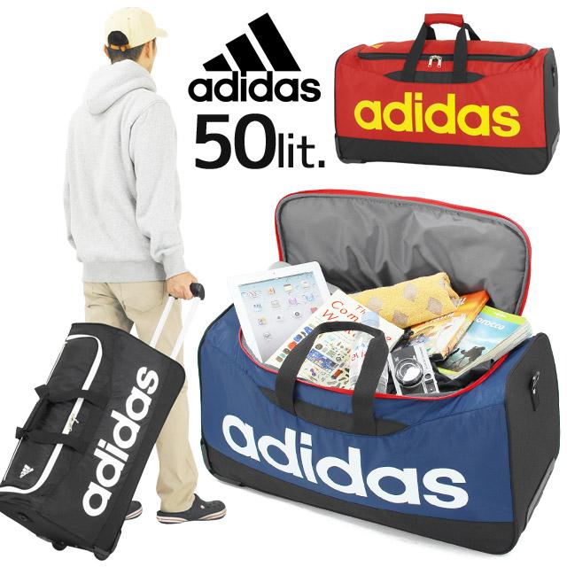 アディダス adidas ボストンキャリー 2輪 全3色 50リットル ボストンバッグ キャリーバッグ 3WAY 男子 女子 46258