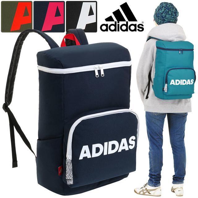 アディダス リュック adidas リュックサック ボックス型 全4色 22リットル デイパック 通学 デカロゴ かわいい 男子 女子 スクールバッグ スクバ 通学リュック 人気 57594