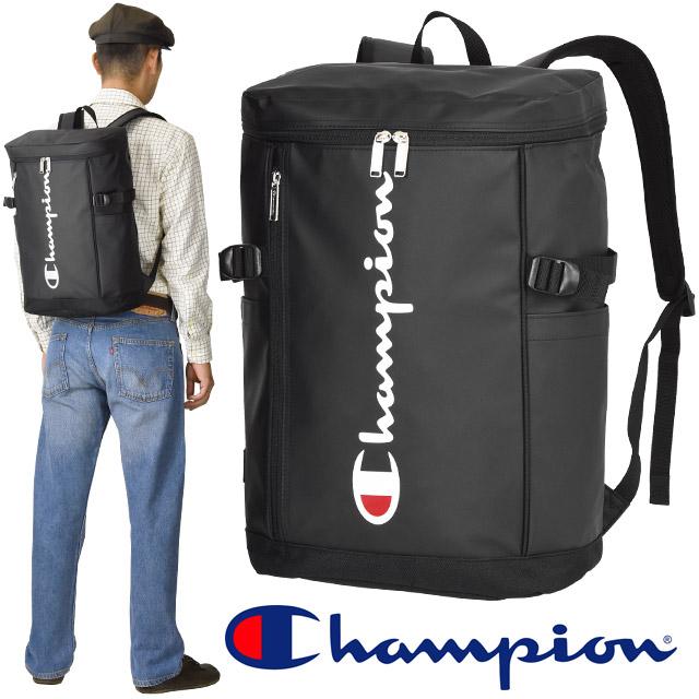 チャンピオン リュック リュックサック ボックス型 ブラック 23リットル リュックサック Champion バレル スクエア 男子 女子 スクールバッグ 人気 55511