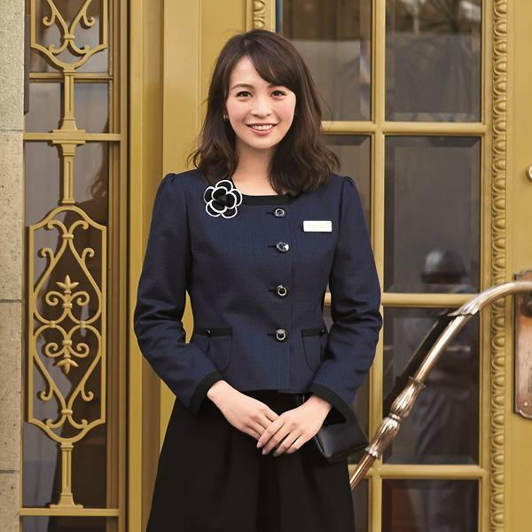 81730 ジャケット ユニフォーム 事務服 制服 en joie 株式会社ジョア アン ジョア