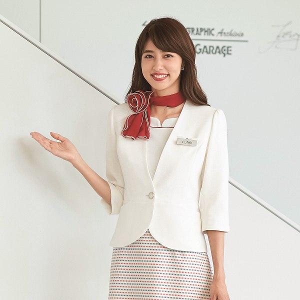 86550 ジャケット ユニフォーム 事務服 制服 en joie 株式会社ジョア アン ジョア