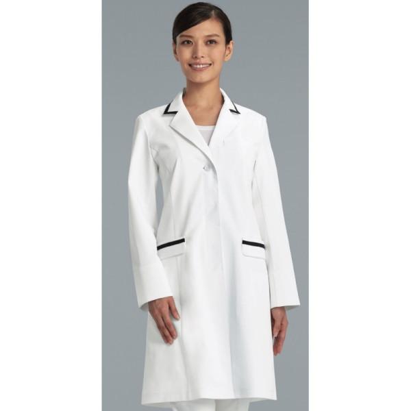 kzn119-40 レディス診察衣 女子白衣 診察着 医療 介護 KAZEN カゼン 薬局衣 ホワイト 医療