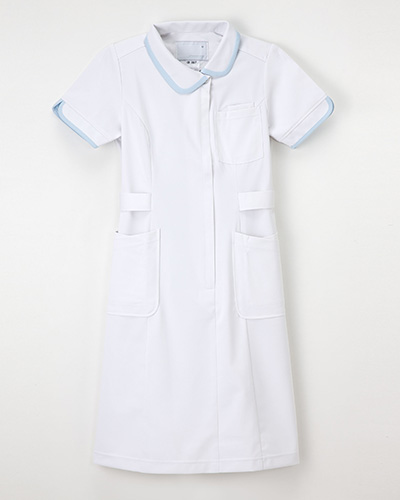 CD-2837 女性 ワンピース 半袖 白衣 ナースウェア Naway ナウェイ NAGAILEBEN CD2837【白衣】