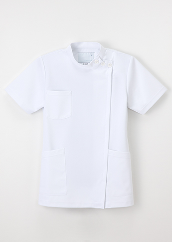 HO-4972 白衣 医療 女子 横掛 半袖 ナガイレーベン  NAGAILEBEN HO4972 医療白衣 看護白衣 病院白衣