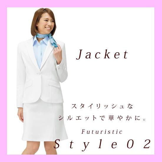 働く女性たちを笑顔にし、いきいきと魅せてくれるオフィススタイル スタイリッシュジャケット 細身のシルエット フューチャリスティックスタイル02 3色カラーバリエーション 送料無料 BONMAX AJ0239