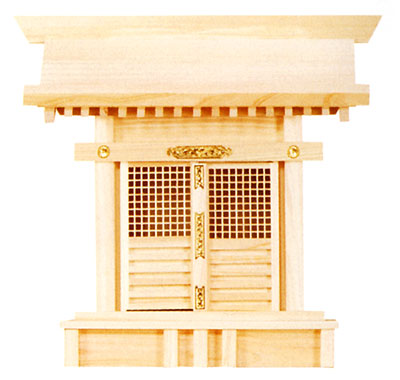 【送料無料】神棚 格子宮(ひのき)11-392 お札 御札 一社