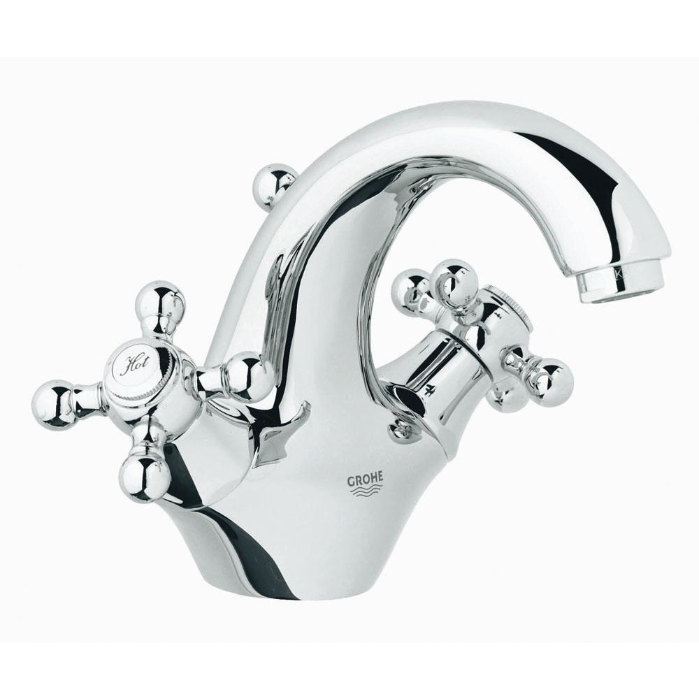 【直送商品】 GROHE[グローエ] 洗面用水栓 【21 012 00J】 シンフォニア 2ハンドル洗面混合栓(引棒付) [新品]【NP後払い不可】