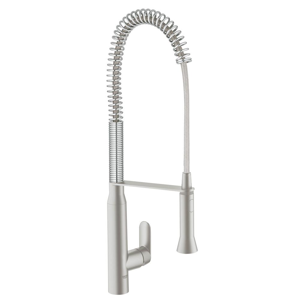 【直送商品】 GROHE[グローエ] キッチン用水栓 【32 950 DCJ】 K7 シングルレバーキッチン混合栓スーパースチール仕上 [新品]【NP後払い不可】