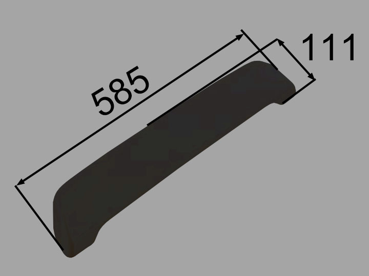 INAX・LIXIL 浴室部品 ヘッドレスト【YCH-9B/K】ブラック 浴室レスト・クッション品 [新品]