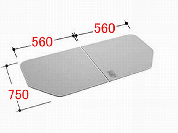 INAX/イナックス/LIXIL/リクシル 水まわり部品 組フタ[YFK-1175(8)B-K] フタ寸法:A:750MM、B:560MM 2枚組み 浴室 【YFK-1175-8-B-K】[新品]