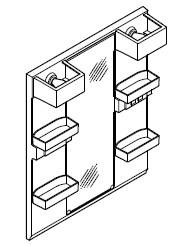 INAX・LIXIL 洗面化粧台部材 【MFTX1-751YPJ】(間口750mm) ミラーキャビネット 照明:LED照明/タイプ:1面鏡・ロングミラー 全高1,780mm用 くもり止めコートなし オフト[oft] 【メーカー直送のみ・代引き不可・NP後払い不可】