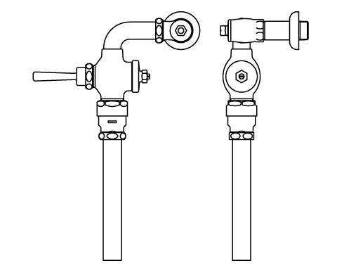 INAX トイレ フラッシュバルブ【CF-1110UT】 低圧用 洗浄水量10-15L便器用 【CF1110UT】 INAX・イナックス・LIXIL・リクシル[新品]